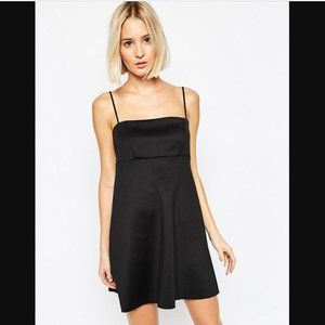 ASOS Black Cami Strap A-Line Babydoll Mini Dress